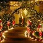 Using Outdoor Decorations in a Fantastical Christmas Theme