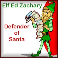 Elf Ed Zachary at the North Pole