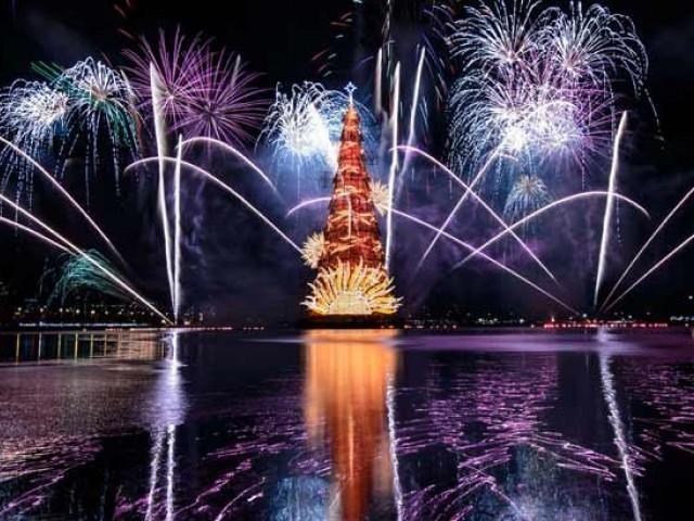 Brazil Christmas.Brazil Floats Christmas Tree With 3 Million Lights My