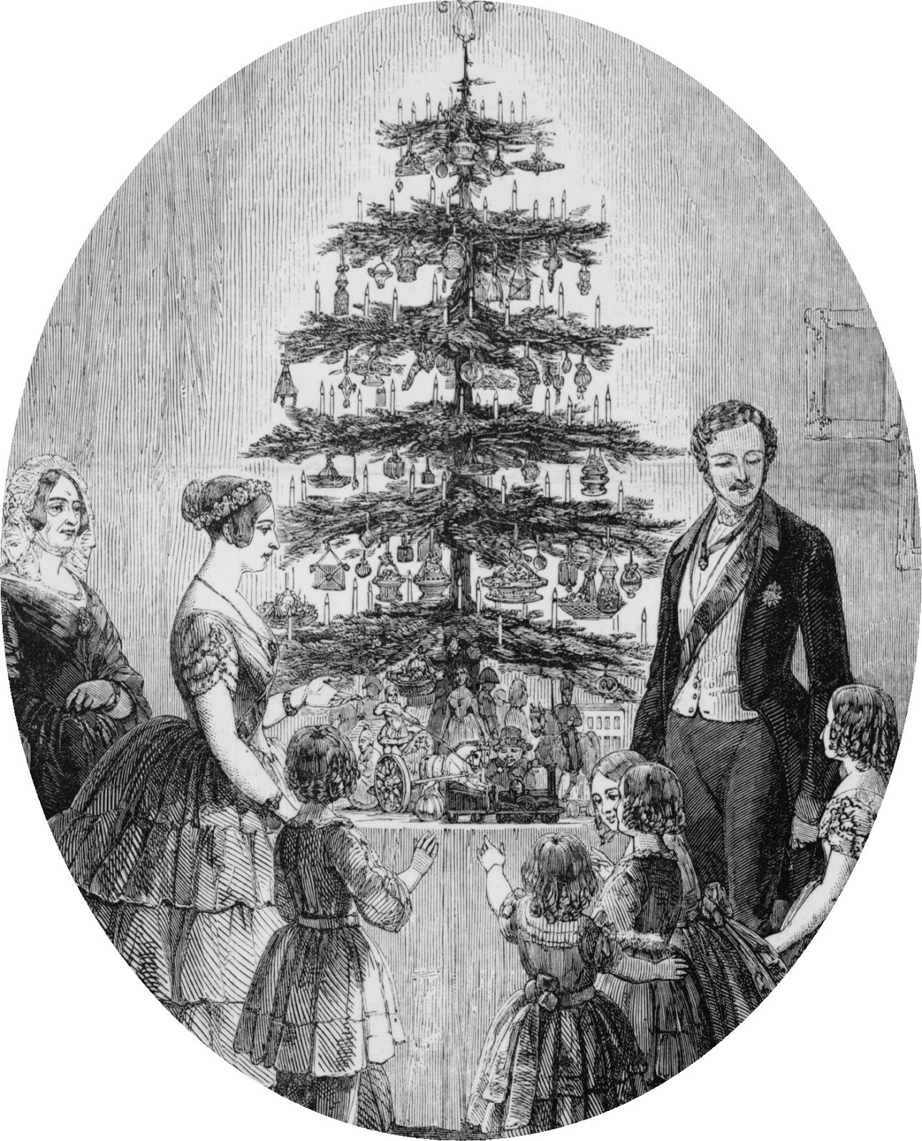The First Christmas Tree in England
