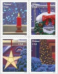 US Post Office Releases New Contemporary Stamps for Christmas 2016