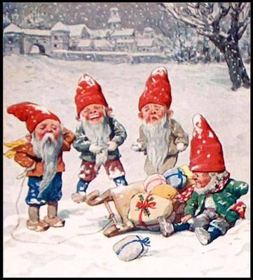 6 - Scary Christmas Elves - Public Domain Art