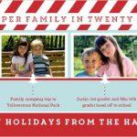 Timeline Christmas Card