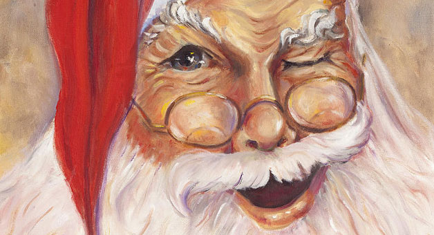 Santa's wink