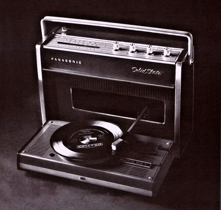 1970s style radio record player