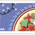 Deck the Halls Christmas stamps