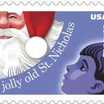 Jolly Old St. Nicholas Christmas stamps
