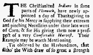 Thanksgiving 1690
