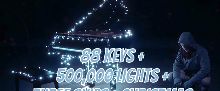 88 Keys + 500,000 Lights + Three Ships = Christmas