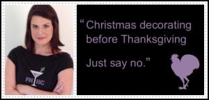 Say no to Christmas decorating