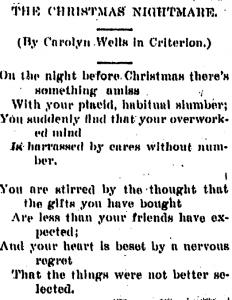 Carolyn Wells in Kalamazoo newspaper 1900
