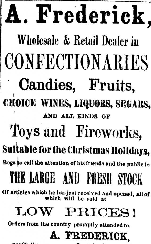Christmas Ad of 1859