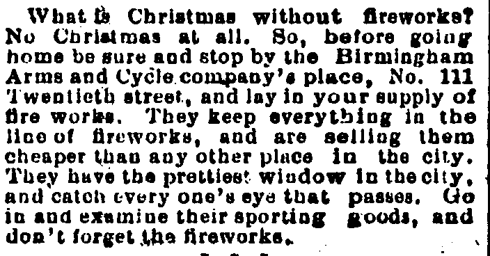 Traditions of Fireworks at Christmas