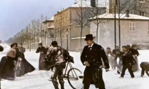 Victorian Era Snowball fight