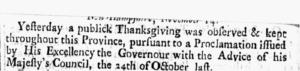 Thanksgiving Proclamation