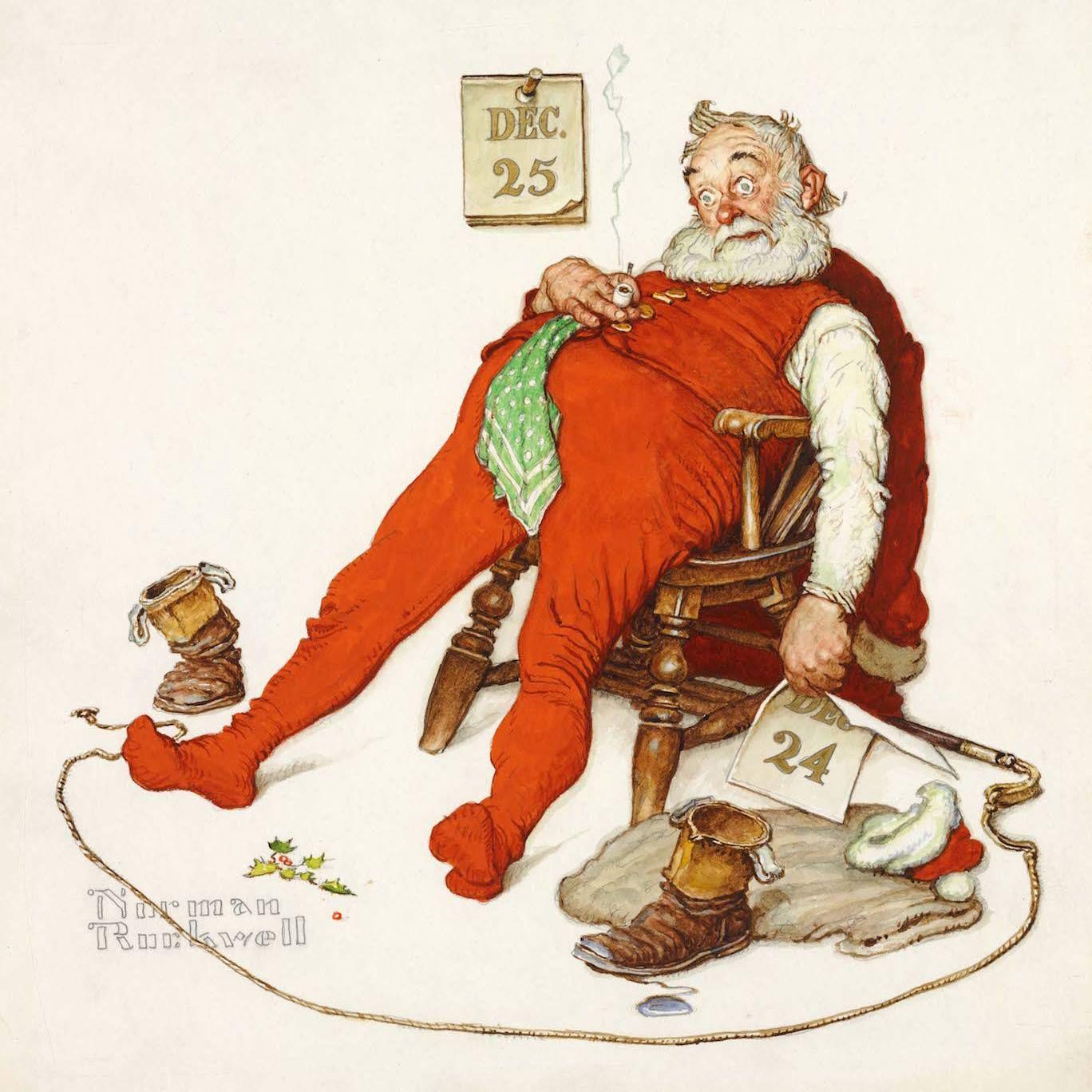 Tired Santa