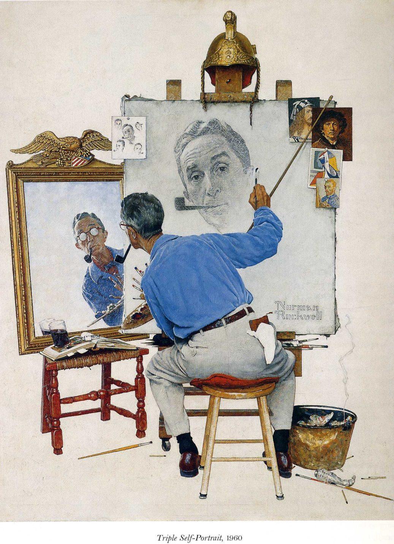Norman Rockwell Self Portrait