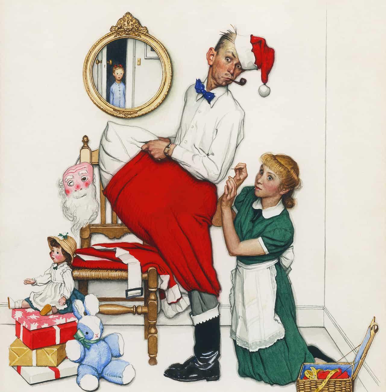 Rockwell Santa Surprise