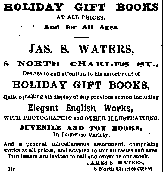 Christmas Card Advertising 1868