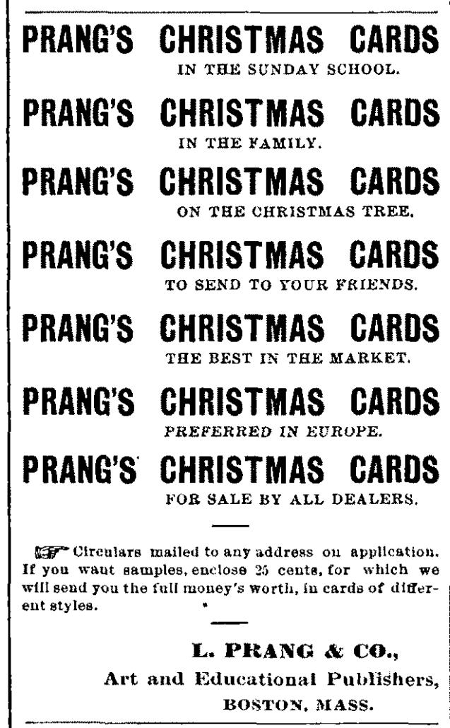 Prang's Christmas Cards