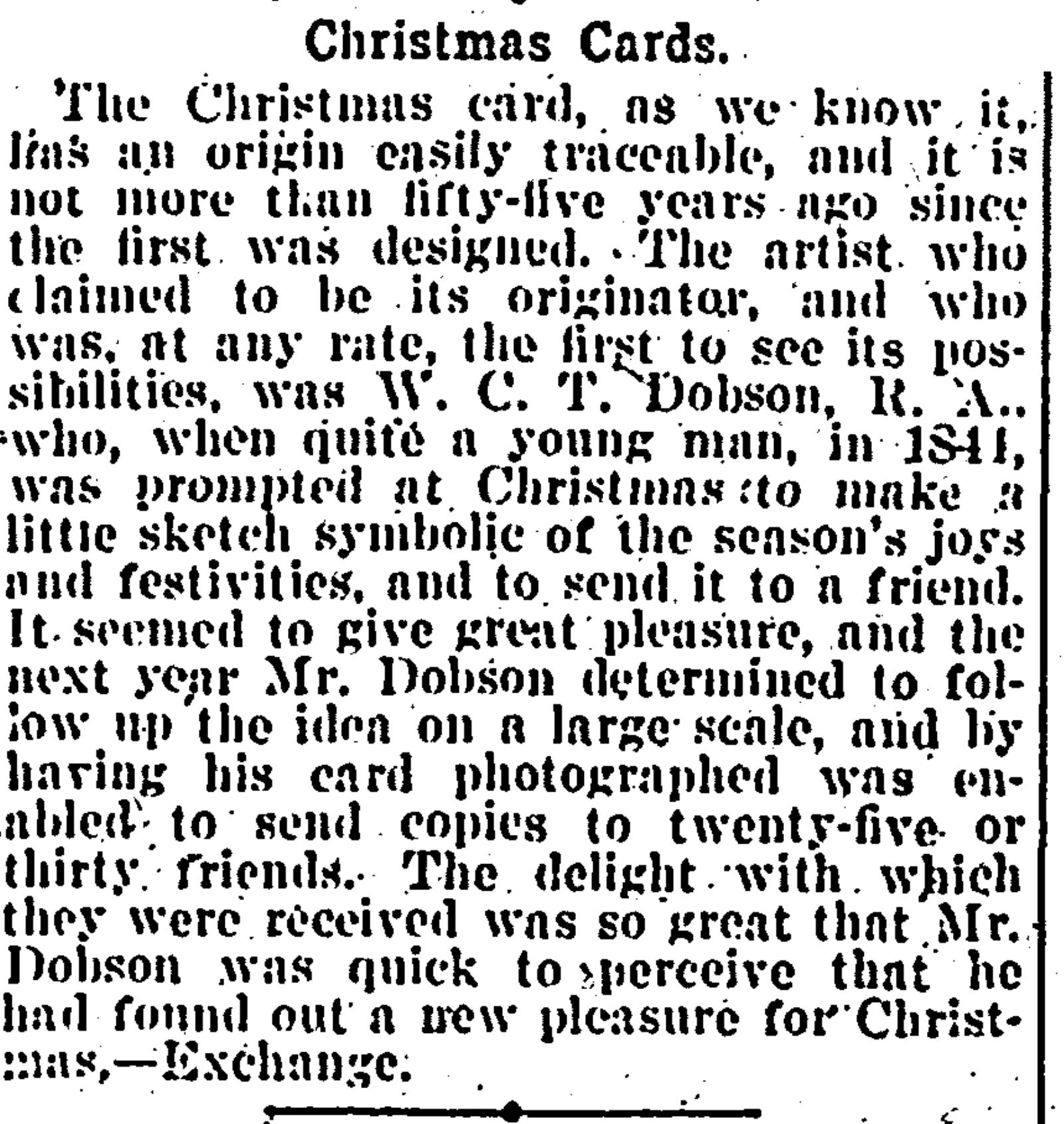 Creator of the Christmas Card