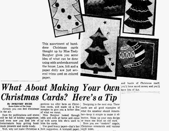 Making Your Own Christmas Cards