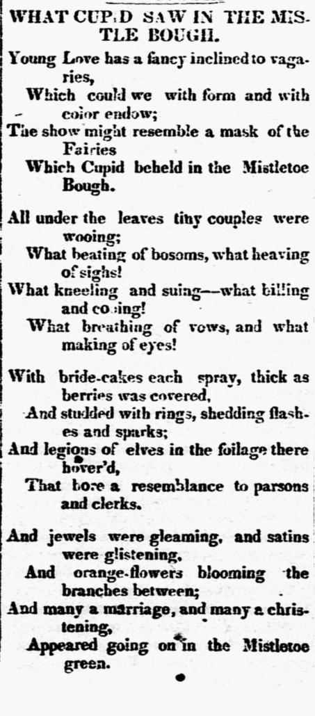 Mistletoe poem