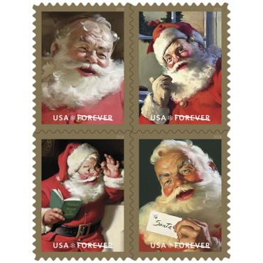 Christmas Stamps - Santa