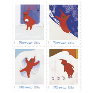 Christmas Stamps - Snowy Day 2017