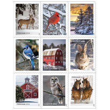 Christmas Stamps - Winter Scenes